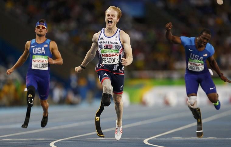 Image: Athletics - Men's 100m - T44 Final