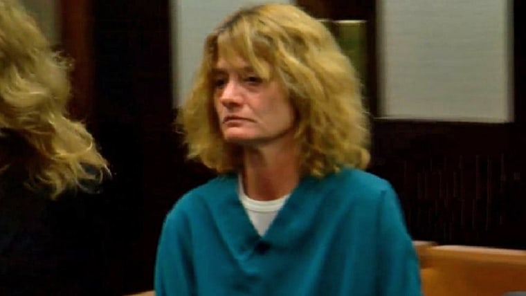 Rhonda Pasek, an Ohio woman who was found by police passed out of an apparent heroin overdose along with another man while her 4-year-old grandson was sitting in the backseat, appears in court on Sept. 15.