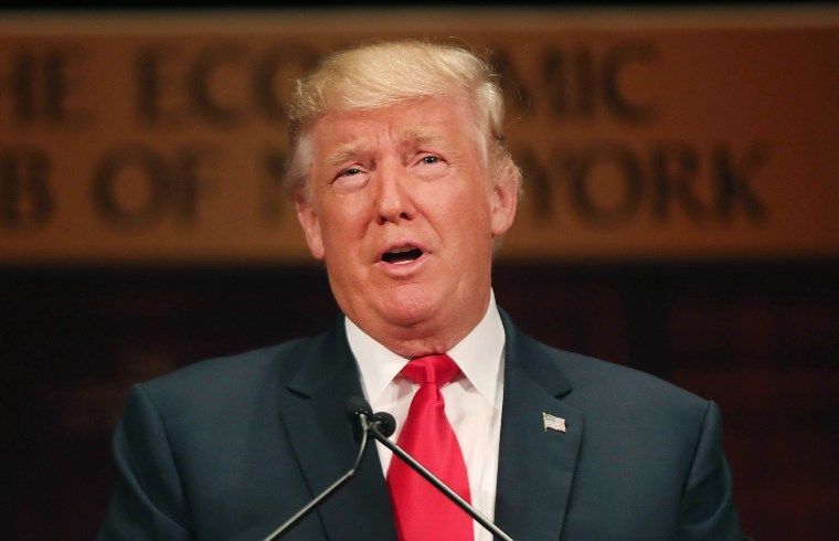 Image: Presidential Candidate Donald Trump Speaks At The Economic Club Of New York