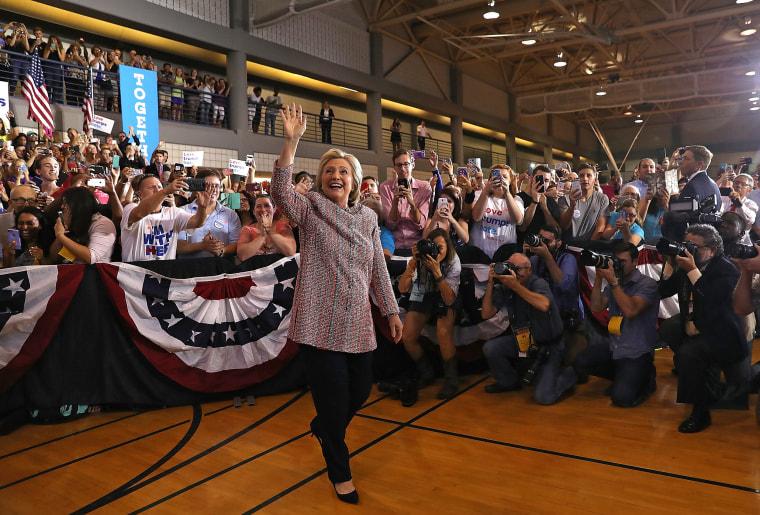 Image: Democratic Presidential Candidate Hillary Clinton Campaigns In Greensboro, North Carolina