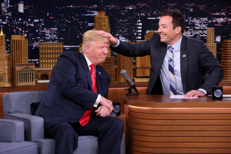 "IMAGE: Donald Trump on \""The Tonight Show Starring Jimmy Fallon\"""