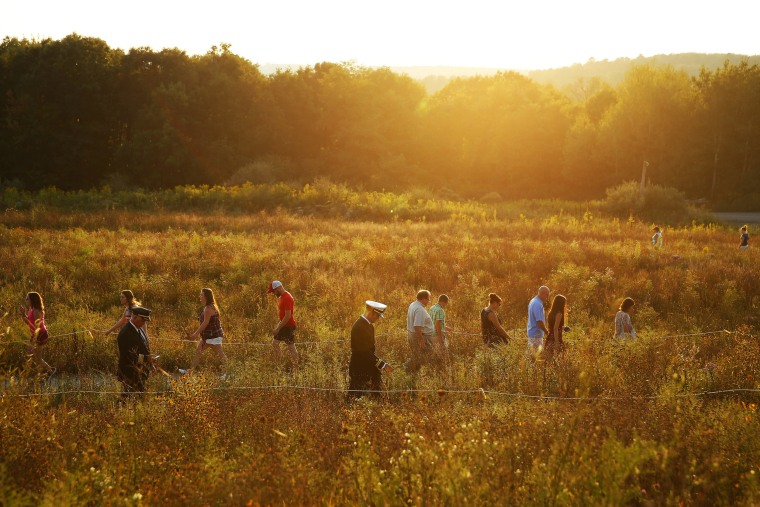 Image: Visitors make their way through the Flight 93 National Memorial