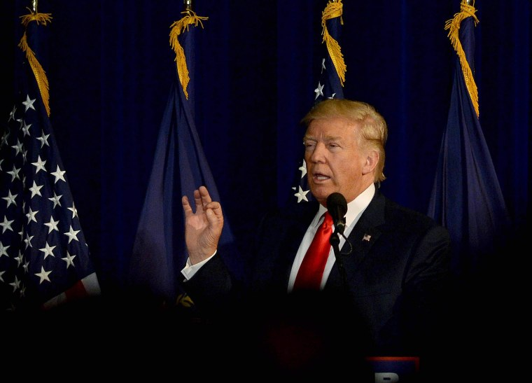 Image: GOP Presidential Candidate Donald Trump Campaigns In Laconia, New Hampshire