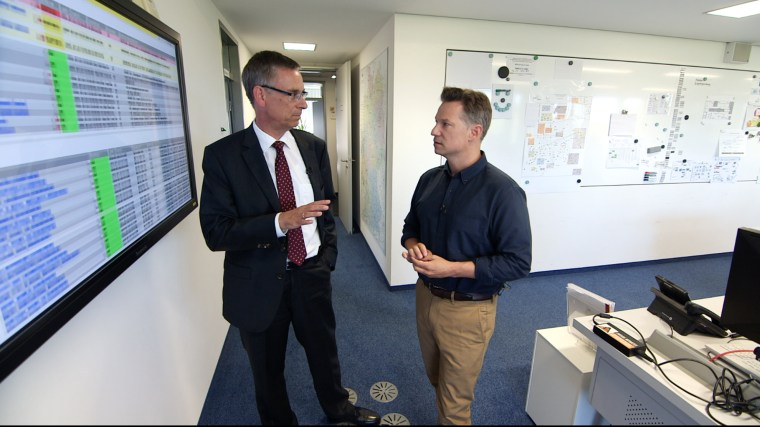 Andreas Koenen (left) overlooks the Federal Office for Information Security (BSI), the German equivalent of the NSA.