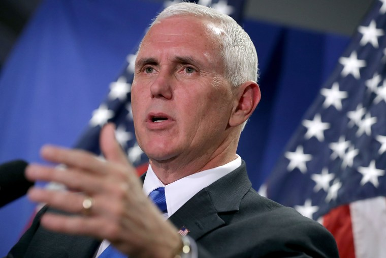 Image: Republican Vice Presidential Nominee Gov. Mike Pence Attends House GOP Weekly Conference