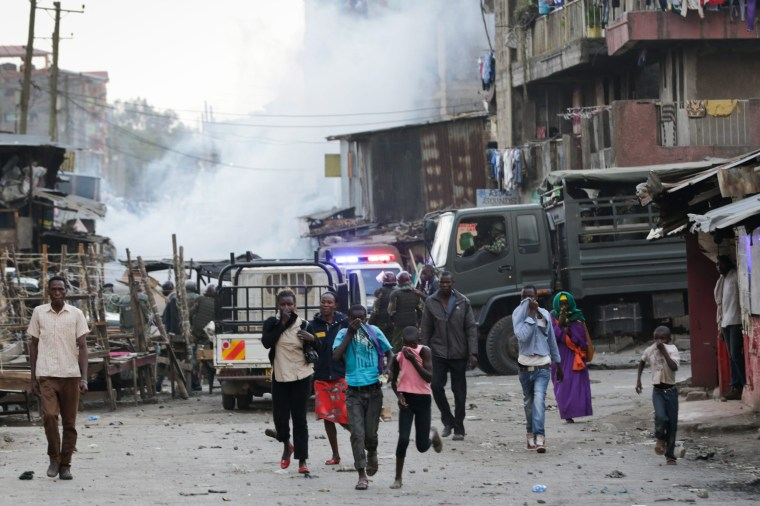 Image: Riots erupt after Kenya's ruling party and main opposition party hold rallies in Nairobi
