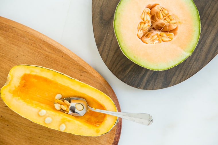 Use a grapefruit spoon to de-seed squashes and melons.