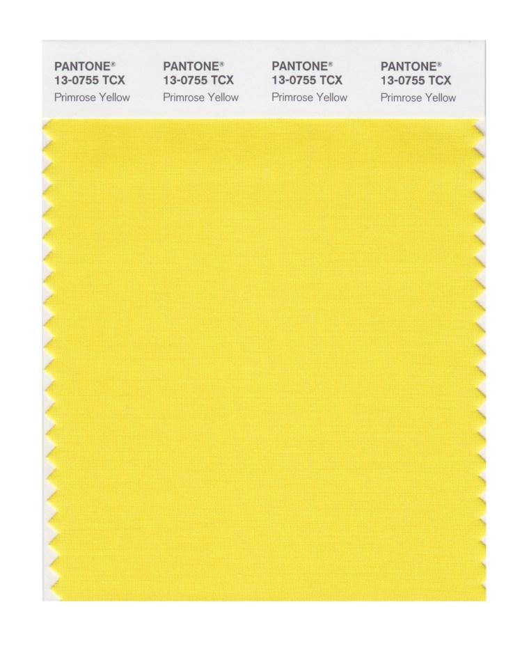Primrose yellow pantone