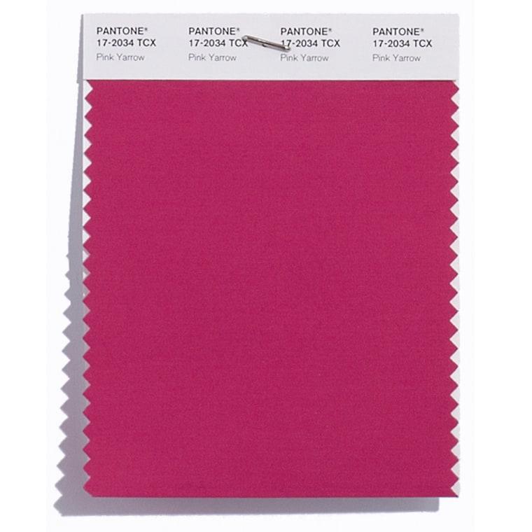 Pink yarrow pantone