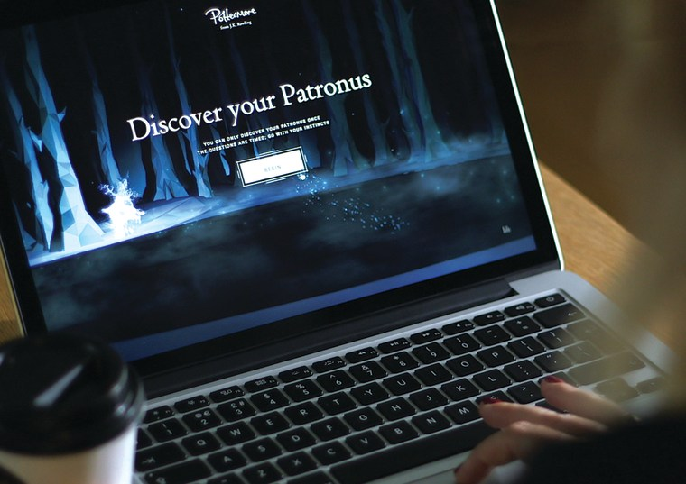 The Patronus quiz on Pottermore