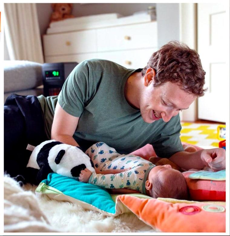 Mark Zuckerberg and daughter Max