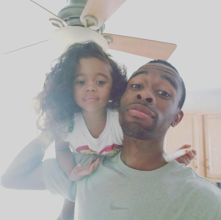 """It's very important for me to share these messages with her because there will be many people that try to tear her down and make her feel less than what she is,"" said Alston of his morning pep talk with daughter, Aliya."