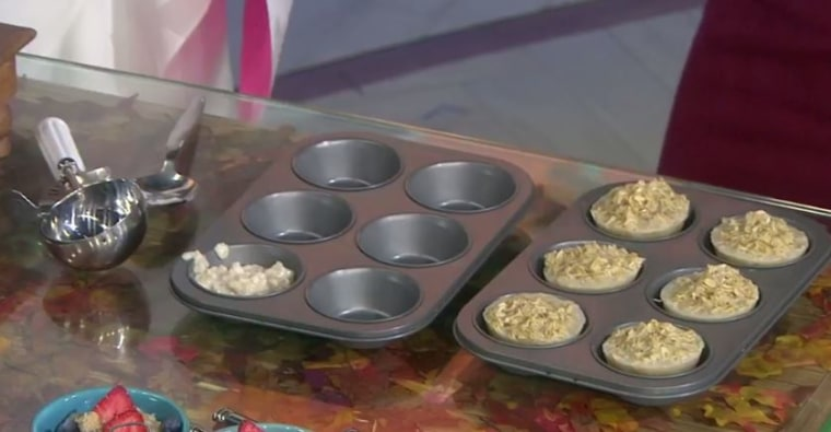 Make oatmeal ahead of time and freeze it in muffin tins.