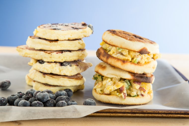 How to make and freeze breakfast sandwiches, pancakes and more!