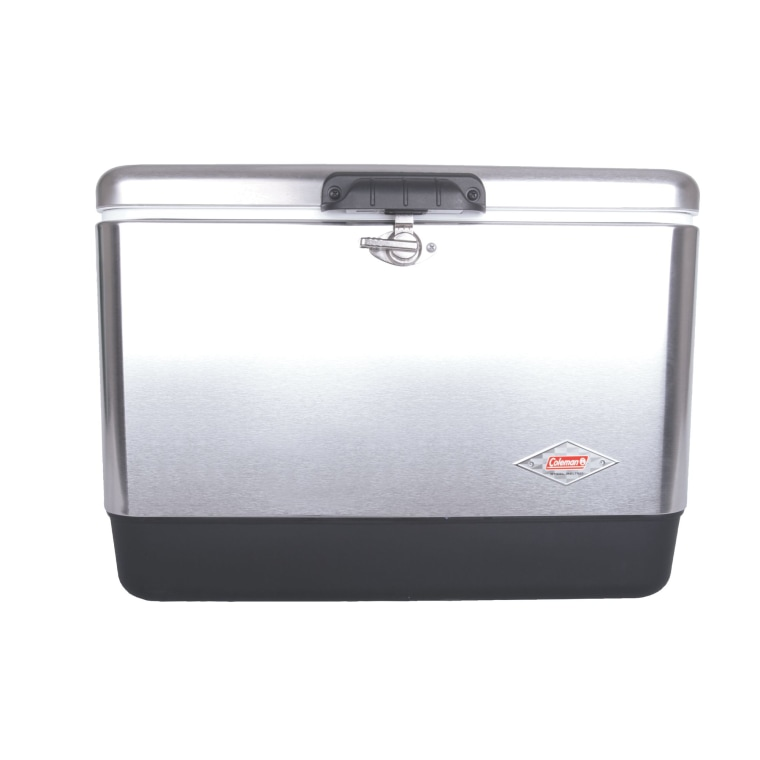 54-quart steel cooler by Coleman