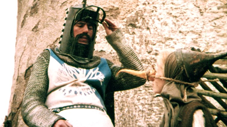 MONTY PYTHON AND THE HOLY GRAIL, Terry Jones, Connie Booth, 1975. (c)Python Pictures.