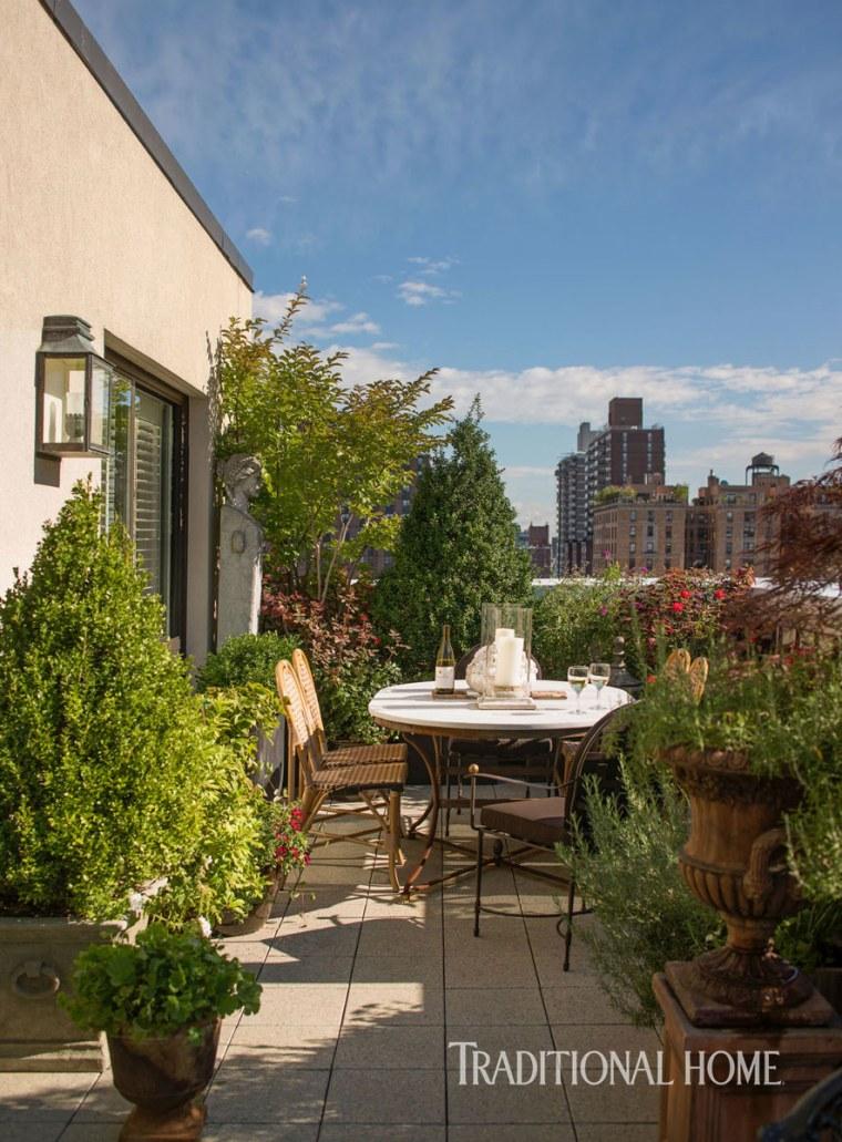 Tim Gunn terrace garden
