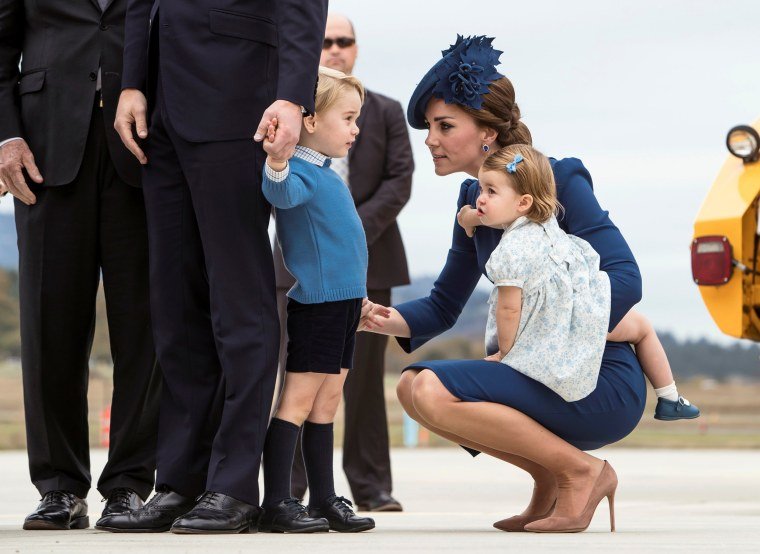 Britain's Royal family arrive at the Victoria International Airport for the start of their eight day royal tour to Canada