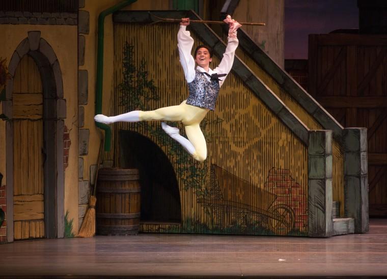 """Jeffrey Cirio, a principal dancer at the American Ballet Theatre, in """"La Fille mal gardee"""""""