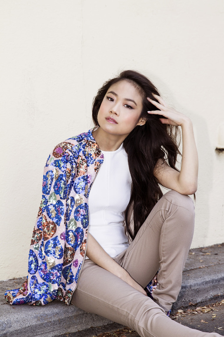 """Krista Marie Yu, who plays Molly on ABC's """"Dr. Ken"""""""