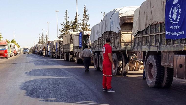 Image: Aid convoy to Aleppo bombed