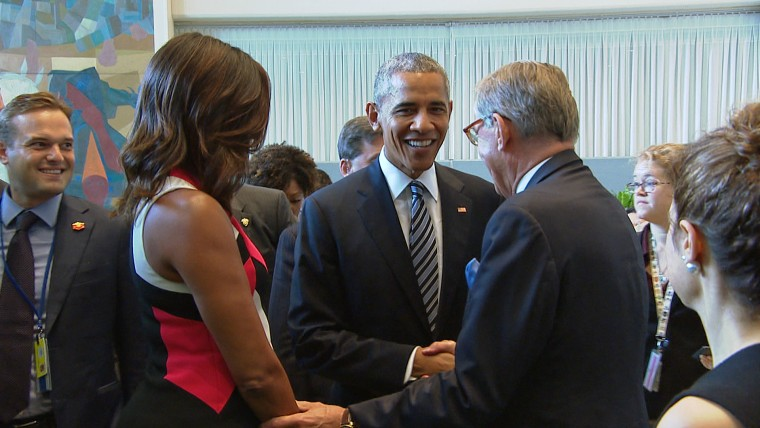 President Obama arrives at the United Nations to address the General Assembly on Sept. 20.