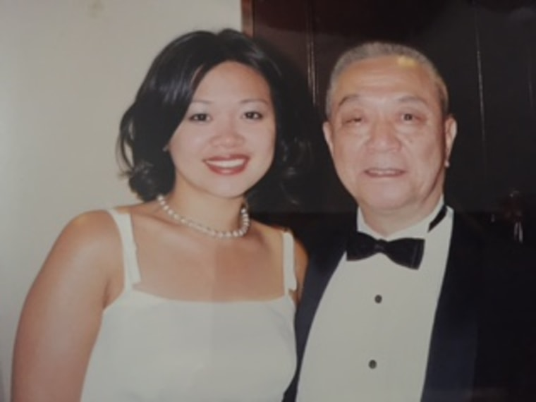 Claudia Chan and her father.