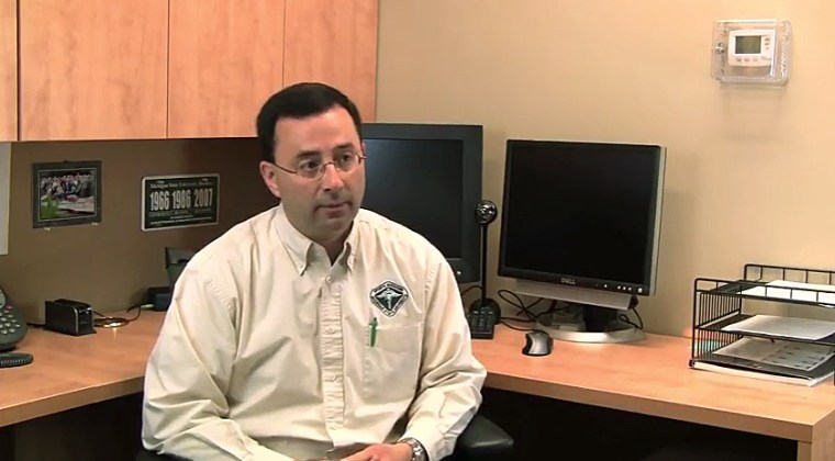 Larry Nassar, in a video for Michigan State University Sports Medicine.
