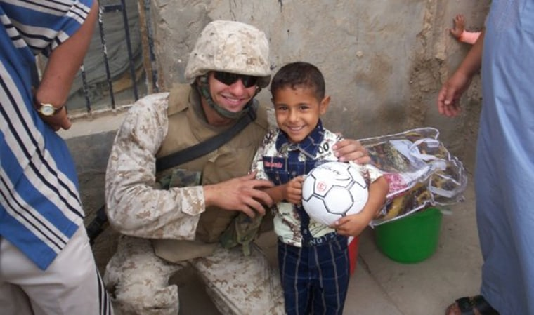 Image: Ahmed Shama during his deployment with the Marines in Ramadi.