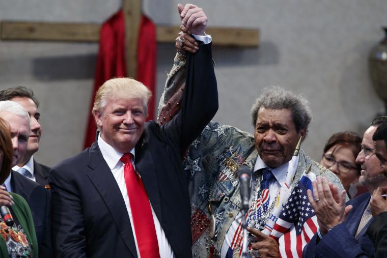 Image: Donald Trump, Don King