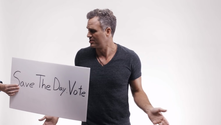 Mark Ruffalo in a get-out-the-vote video by the Save the Day super PAC.