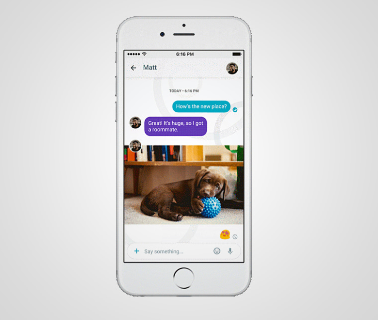 Google's new messaging app uses artificial intelligence to suggest smart replies.