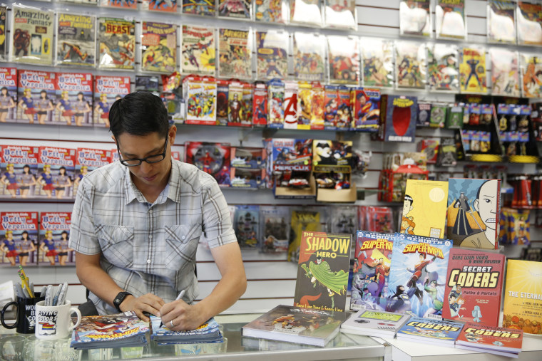 Gene Luen Yang, 2016 MacArthur Fellow, at Flying Color Comics in Concord, California, on Tuesday, Sept. 6, 2016.