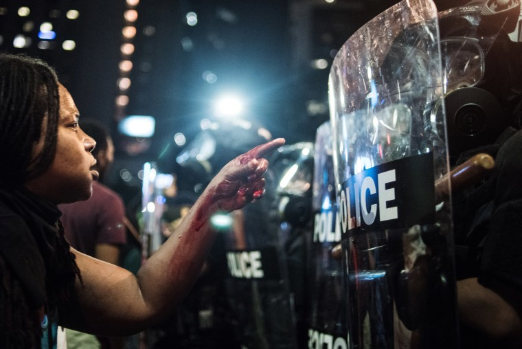 Image: Protests Break Out In Charlotte After Police Shooting