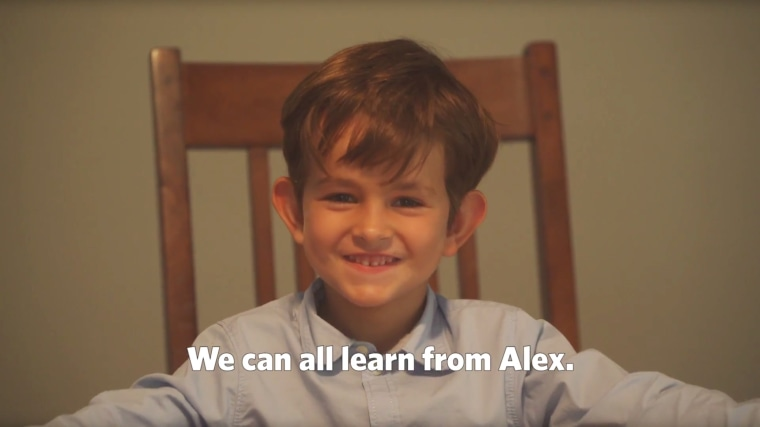 Image: Alex, a six-year-old boy from New York, asked President Obama to help him provide a home for a refugee in need