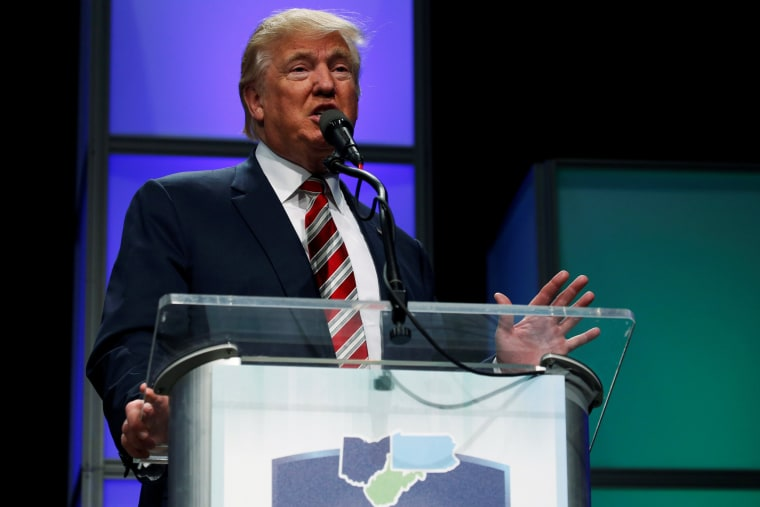 Image: Republican presidential nominee Trump delivers remarks at the Shale Insight energy conference in Pittsburgh