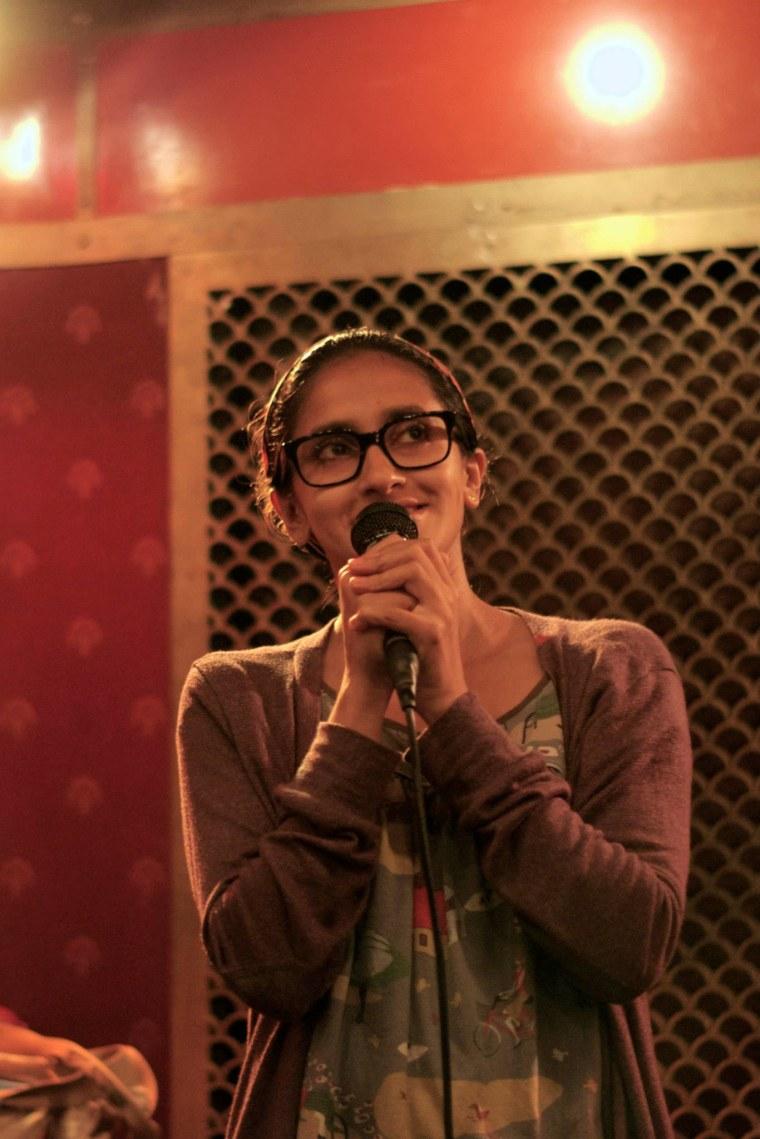 Aparna Nancherla at a 2013 Subcontinental Drift open mic.