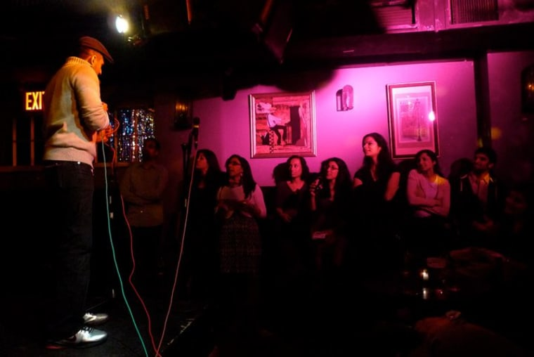 A Subcontinental Drift open mic in 2013.