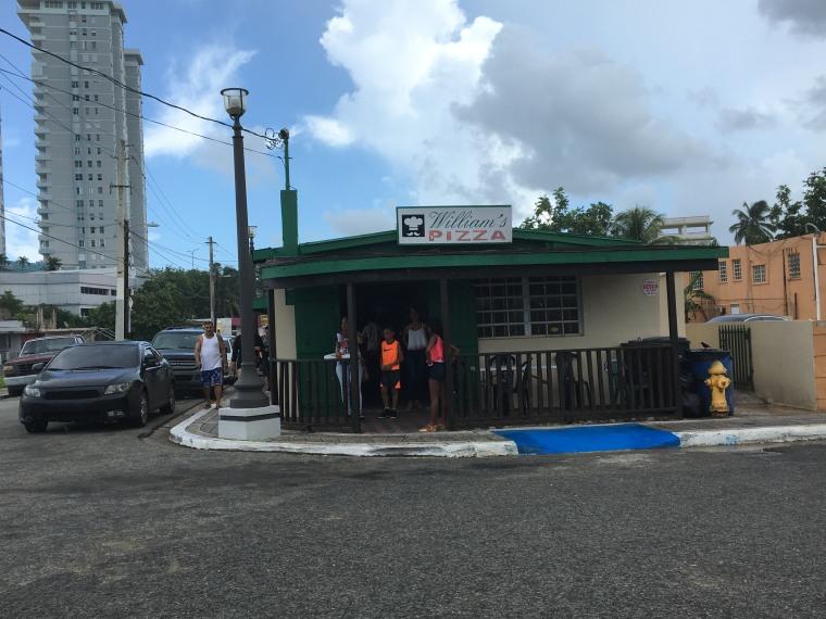 William's Pizza in Luquillo, Puerto Rico.