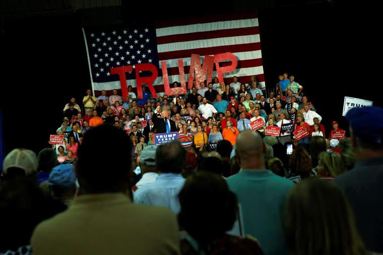 Image: Trump holds a rally with supporters in Kenansville, North Carolina, U.S.