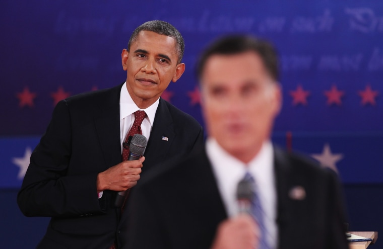 Image: Barack Obama And Mitt Romney Participate In Second Presidential Debate