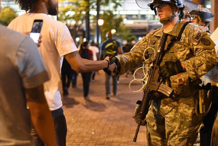 Image: Charlotte protests continue for third night