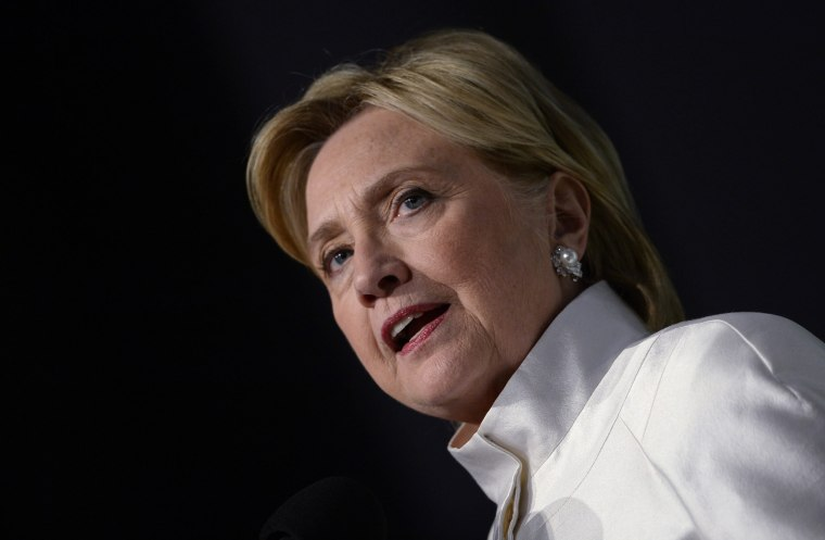 Image: Hillary Clinton Speaks at Congressional Black Caucus Dinner in DC