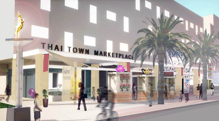 A rendering of the Thai Town Marketplace, scheduled to open in 2017.