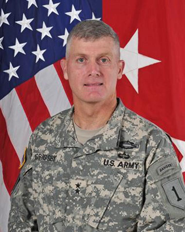 Major General Wayne W. Grigsby, Jr., Commanding General, 1st Infantry Division and Senior Mission Commander, Fort Riley.