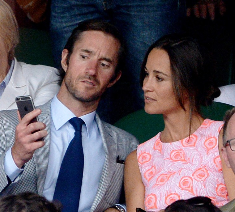 Image: Pippa Middleton and James Matthews pictured earlier this summer.