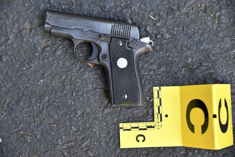 Image: A pistol that police said was in the possession of Keith Lamont Scott is seen in a picture provided by the Charlotte-Mecklenburg Police Department