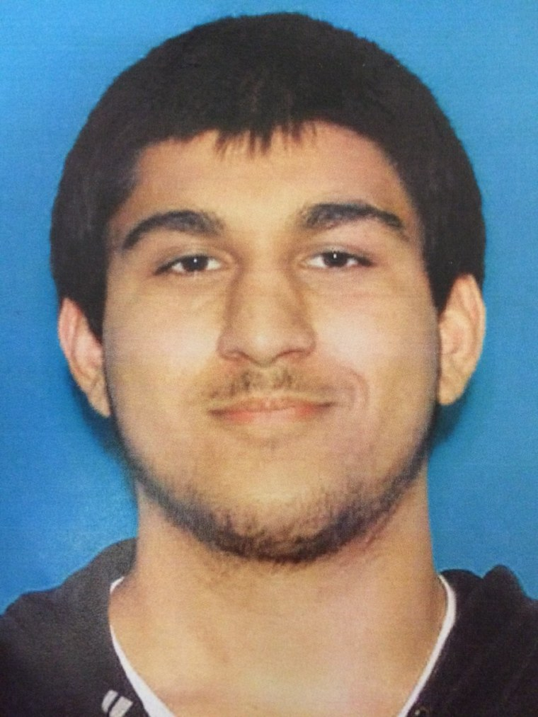The Washington State Patrol released this photo of Arcan Cetin, 20, of Oak Harbor, Washington after he was arrested Saturday, Sept. 24, 2016, in a shooting at a Burlington mall Friday that left five people dead.