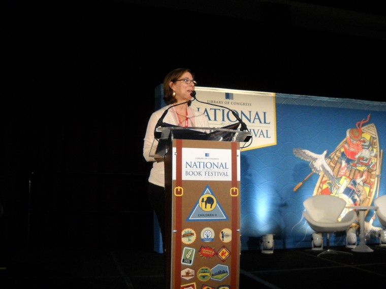 Pam Mu?oz Ryan at the 16th-annual Library of Congress National Book Festival, September 24, 2016, Washington, D.C.