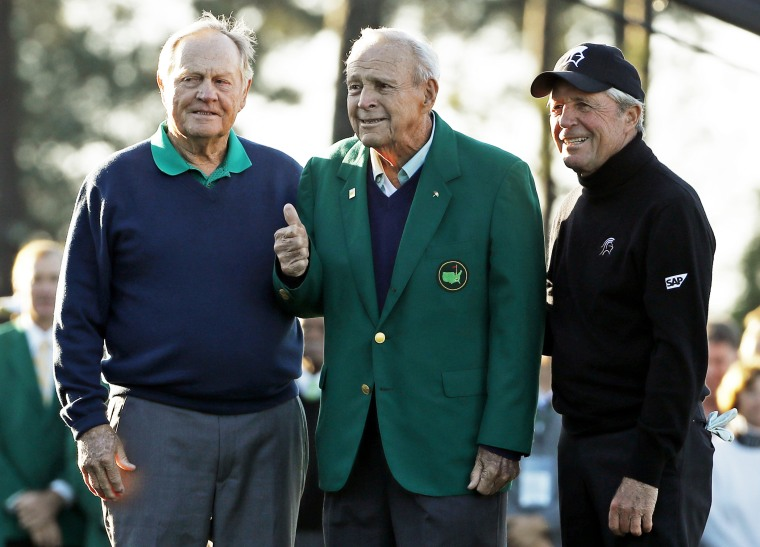 IMAGE: Jack Nicklaus, Arnold Palmer and Gary Player